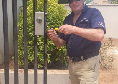 Installing a deadlock in new front wrought iron gates