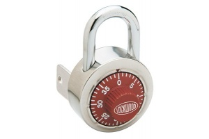 COMBINATION PADLOCK WITH KEY OVERIDE