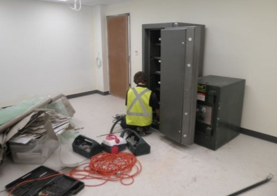 Cleaning a site after installation of a safe Adelaide
