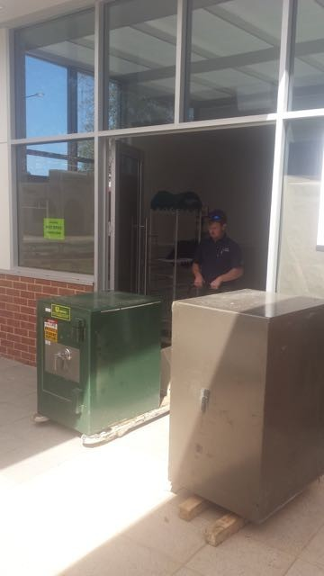 Using a trolley to install a safe South Australia