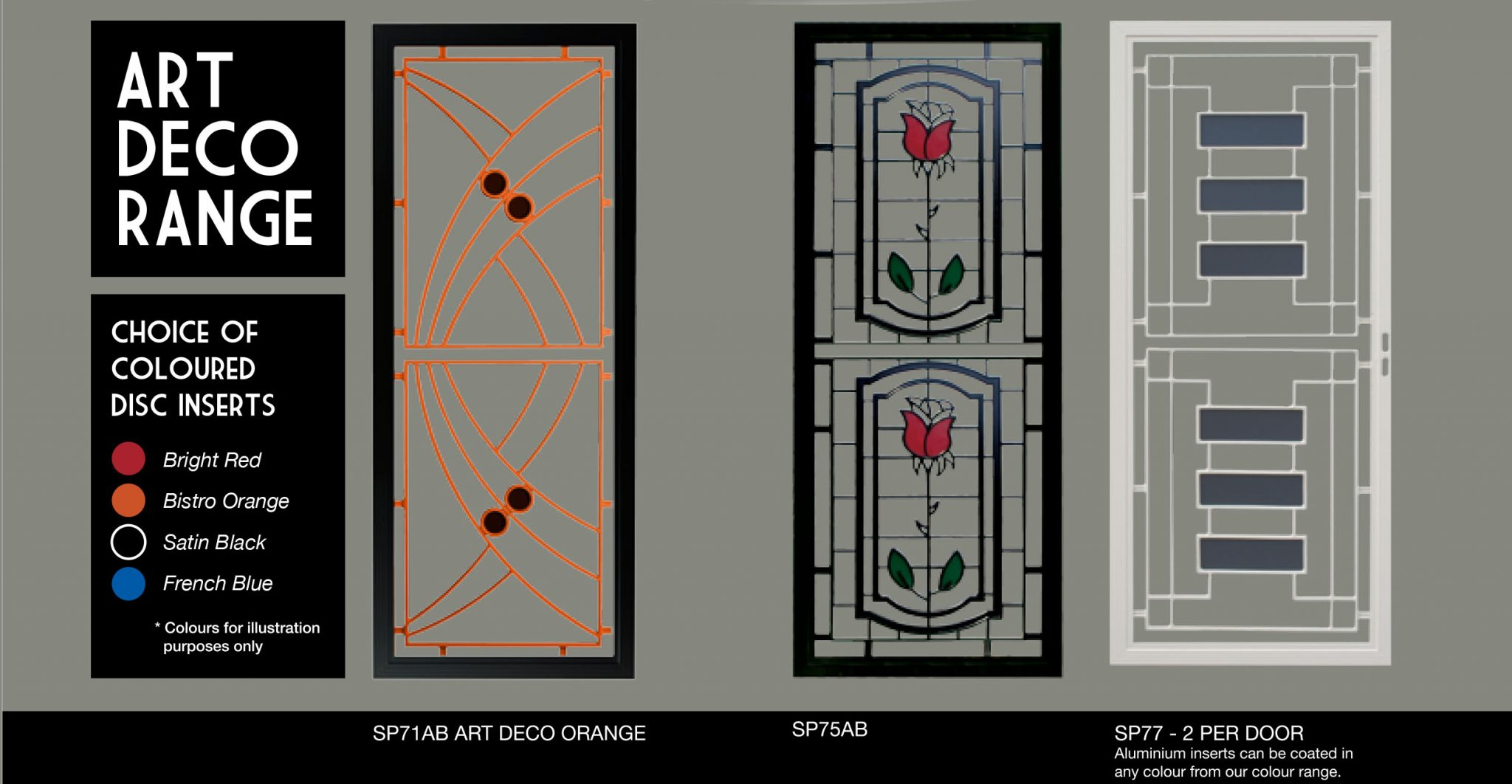 art deco safety screens