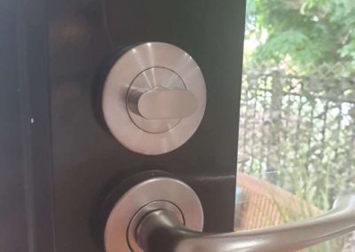 A door lock being changed in a regional South Australian residential property - Before pic