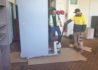Safe Transport - Our team transporting a safe for installation in a commercial building in Noarlunga